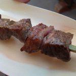庶民にはこの大きさで限界です。松阪牛の串焼き